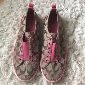 Coach pink sneakers